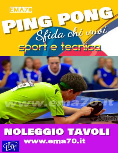 Noleggio tavoli da ping pong