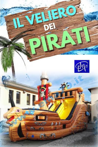 Giochi gonfiabili - Il veliero dei pirati