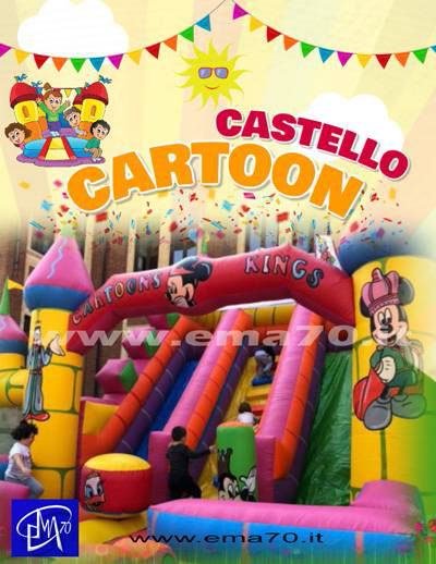 Giochi gonfiabili - Castello cartoon