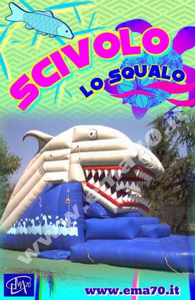 Scivolo gonfiabile - Scivolo lo squalo