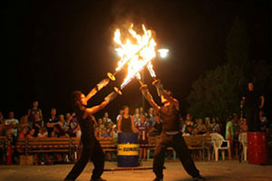 eventi di piazza col fuoco